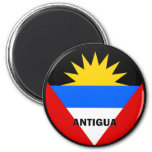 Antigua Roundel quality Flag Fridge Magnet