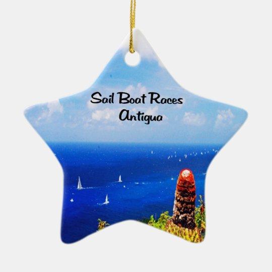 Antigua Sailboat races Ceramic Ornament