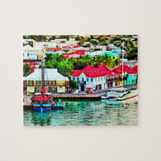 Antigua - St. Johns Harbor Early Morning Jigsaw Puzzle