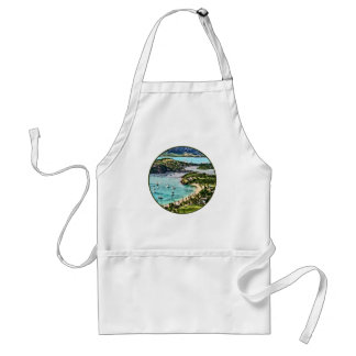 Antigua View Falmouth Harbor Adult Apron