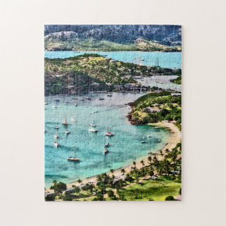 Antigua View Falmouth Harbor Jigsaw Puzzle