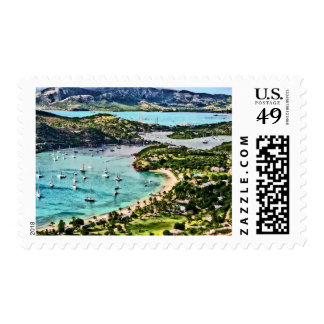 Antigua View Falmouth Harbor Stamp
