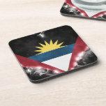 Antigua y Barbuda potentes Posavasos De Bebidas