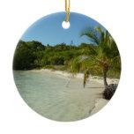 Antiguan Beach Beautiful Tropical Landscape Ceramic Ornament