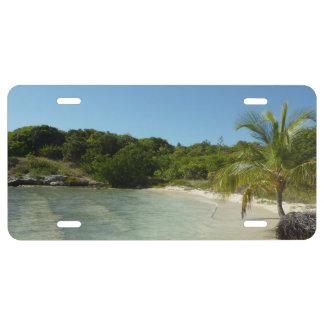Antiguan Beach Beautiful Tropical Landscape License Plate