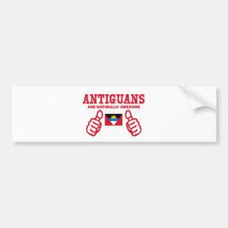 Antigua's are naturally awesome bumper sticker
