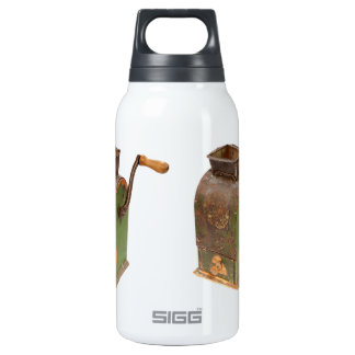 Antigue coffee mill insulated water bottle