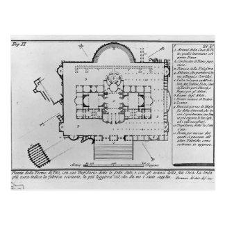 Antigüedad-Baños Piranesi-Romanos de Juan de Titus Tarjetas Postales
