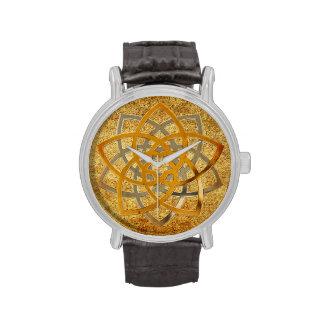 Antigüedad bicolor de la flor de Venus Relojes De Pulsera