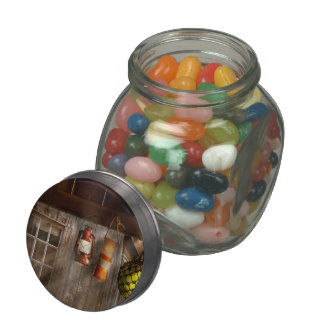 Antigüedad - colgando alrededor jarras de cristal jelly bely