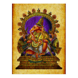 Antigüedad de Ganesha Deva Tarjeta Postal