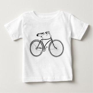 Antigüedad de la camiseta del bebé de la bicicleta