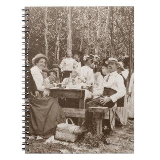 Antigüedad de la comida campestre de la familia de cuadernos