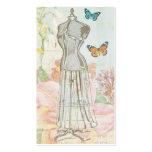 Antigüedad de la forma del vestido del diseñador d tarjetas personales