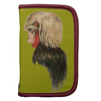 Antigüedad de la mujer del gorra del pájaro del to organizador