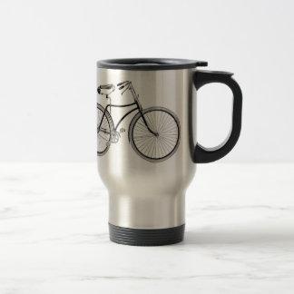 Antigüedad de la taza de café de la bicicleta del
