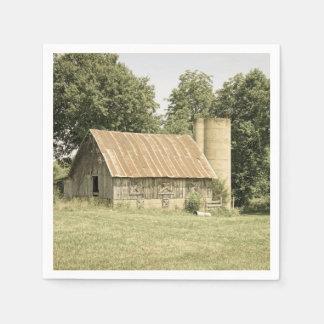 Antigüedad del granero de Strafford MES Servilleta Desechable