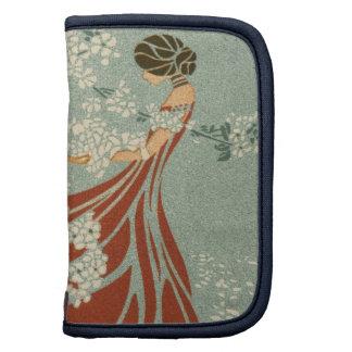 Antigüedad del vestido de las flores de la mujer d planificadores