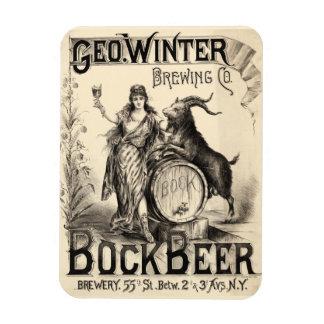 Antigüedad del vintage de la cerveza dorada de la imanes rectangulares