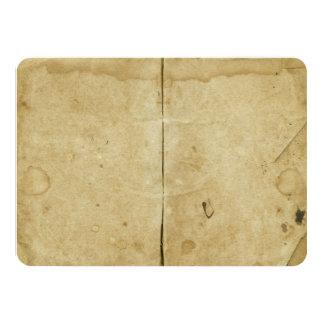 """Antigüedad envejecida manchada espacio en blanco invitación 4.5"""" x 6.25"""""""