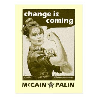 Antigüedad-Estilo Sarah Palin Tarjeta Postal