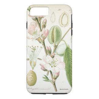 Antigüedad floral de la flor del vintage hermoso funda iPhone 7 plus