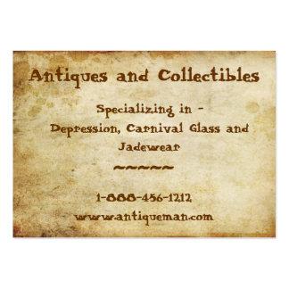 Antigüedad manchada plantillas de tarjeta de negocio