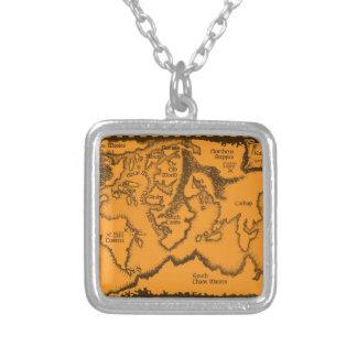 Antigüedad, mapa de Viejo Mundo Pendiente Personalizado