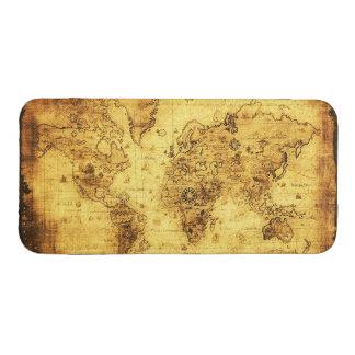 Antigüedad, mapa de Viejo Mundo del oro Funda Acolchada Para Móvil