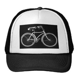 Antigüedad negra de la bicicleta del vintage/ciclo gorras de camionero