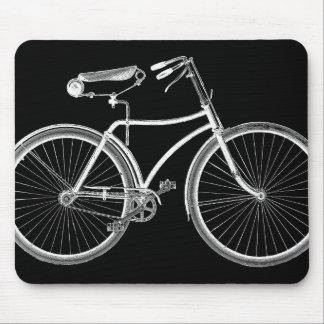 Antigüedad negra de la bicicleta del vintage/ciclo alfombrilla de raton