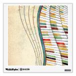 Antigüedad retra de los colores del piano ondulado