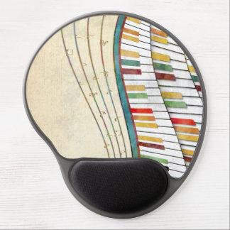 Antigüedad retra de los colores del piano ondulado alfombrilla de raton con gel