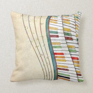 Antigüedad retra de los colores del piano ondulado almohadas