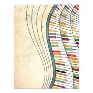 Antigüedad retra de los colores del piano ondulado anuncio