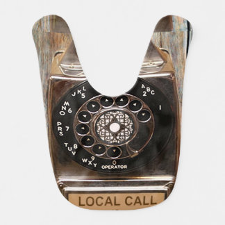 Antigüedad rotatoria del teléfono del dial del babero de bebé