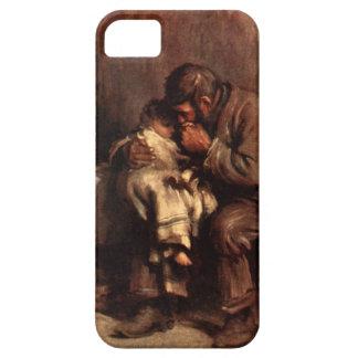 Antigüedad sin madre del bebé del padre del niño d iPhone 5 protector