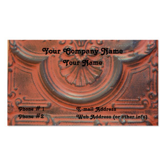 Antigüedad, techo de la lata, tarjeta de visita