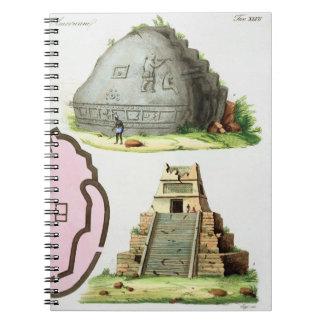 Antigüedades centroamericanas, detalle del pyrami  libro de apuntes