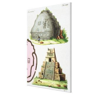 Antigüedades centroamericanas, detalle del pyrami  lona envuelta para galerias