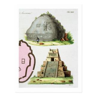 Antigüedades centroamericanas, detalle del pyrami postal