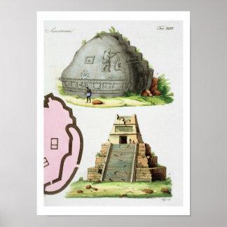 Antigüedades centroamericanas, detalle del pyrami  póster