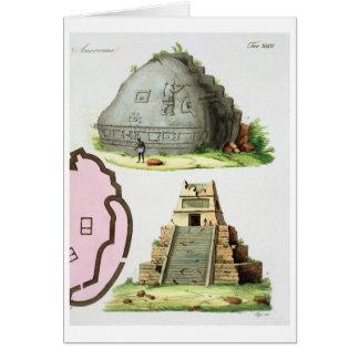 Antigüedades centroamericanas, detalle del pyrami  tarjeta de felicitación