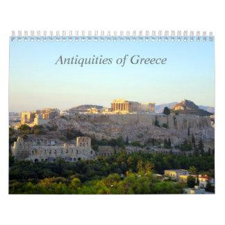 Antigüedades de Grecia Calendarios