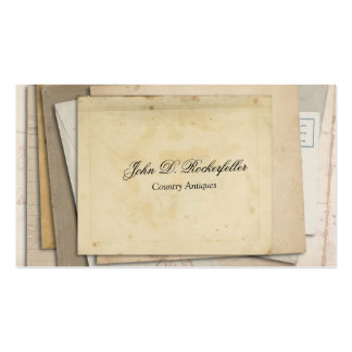 Antigüedades de papel de las Ephemeras del vintage Tarjetas De Visita