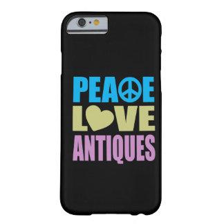 Antigüedades del amor de la paz funda para iPhone 6 barely there