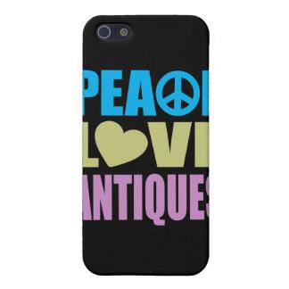 Antigüedades del amor de la paz iPhone 5 funda