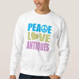 Antigüedades del amor de la paz pullover sudadera