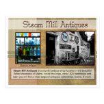 Antigüedades del molino del vapor tarjeta postal