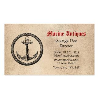 Antigüedades marinas tarjetas de visita